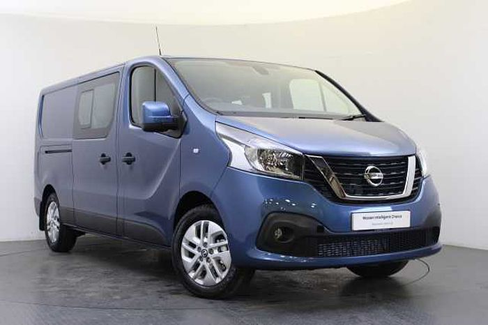 Nissan NV300 1.6 dCi 120 Tekna L2H1 2.9T Crew Van with 6 Seats Panorama Blue