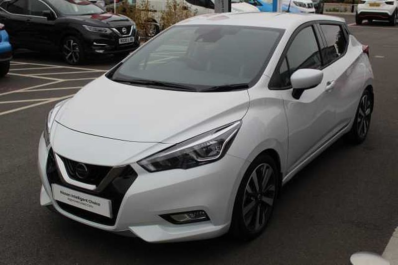 Nissan Micra Hatchback (All New) 1.0 DIG-T 117ps Tekna Storm White