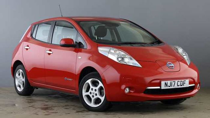 Nissan Leaf (30kWh) Acenta Hatchback 5dr Electric Automatic (0 g/km, 107 bhp) Red