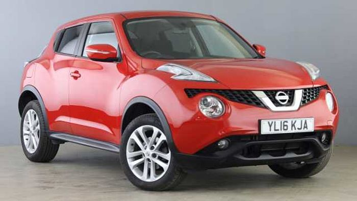 Nissan Juke 1.5 dCi Acenta SUV 5dr Diesel (s/s) (110 ps) Red